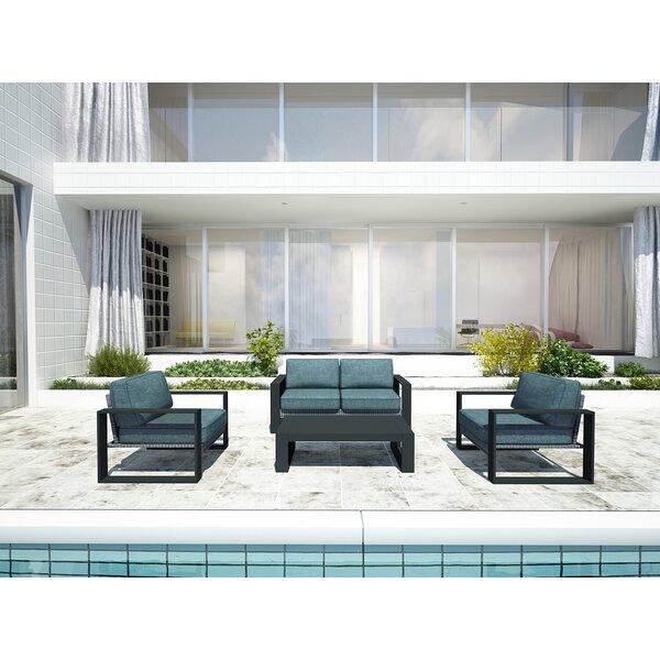 Portal 4 Piece Sofa Set with Cushions by Harmonia Living