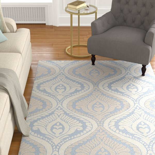Mangus Light Blue/ Ivory Area Rug by Astoria Grand