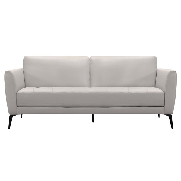 Rankins Contemporary Leather Sofa by Orren Ellis