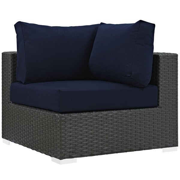 Tripp Outdoor Patio Corner Chair with Cushion by Brayden Studio