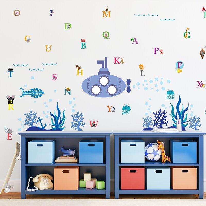 Walplus Ocean World 31 Piece Alphabet Wall Decal Wayfair
