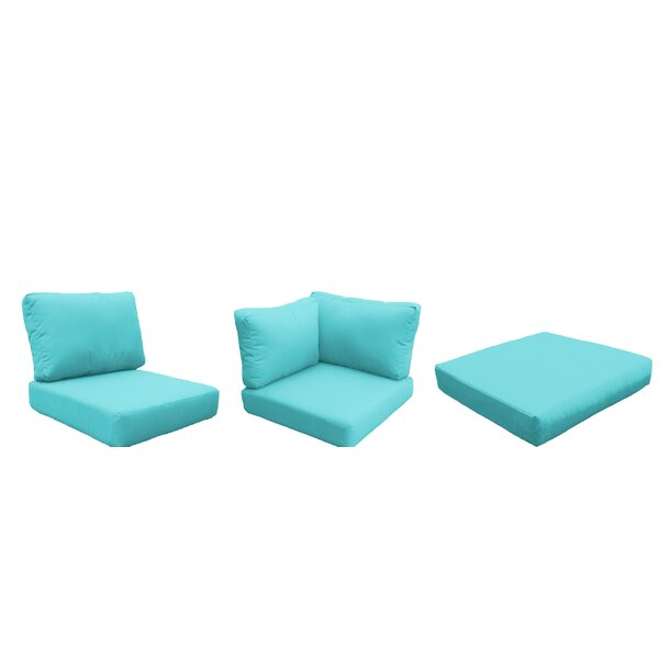 Capecod 16 Piece Outdoor Lounge Chair Cushion Set by TK Classics
