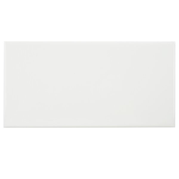 Prospect 3 x 6 Ceramic Subway Tile in Glazed White by EliteTile