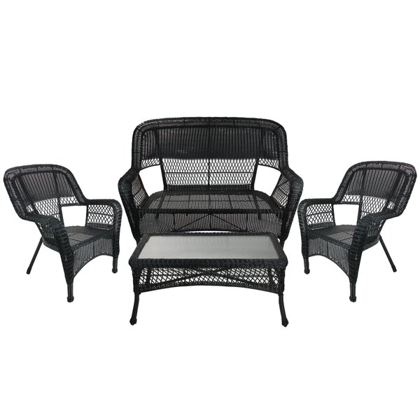 Tamera Outdoor 4 Piece Sofa Seating Group by Darby Home Co