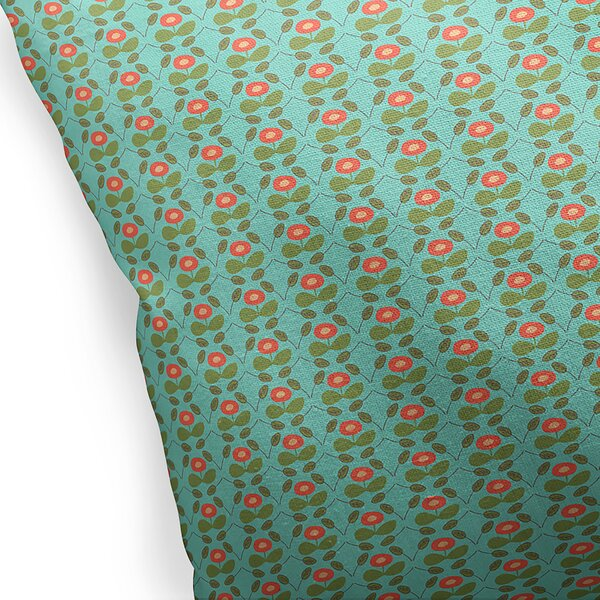 Custis Cotton Indoor/Outdoor Floral Euro Pillow