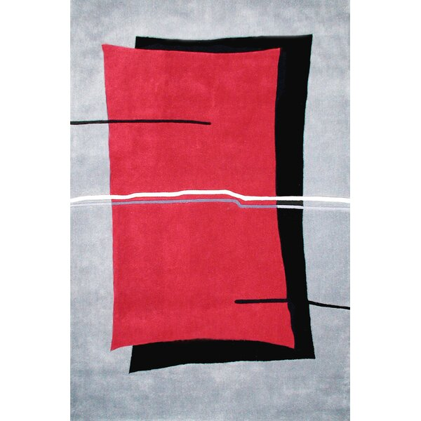Handmade Red/Grey Area Rug by American Home Rug Co.