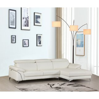 Amatia Leather Right Hand Facing Sectional by Orren Ellis SKU:AD372890 Information