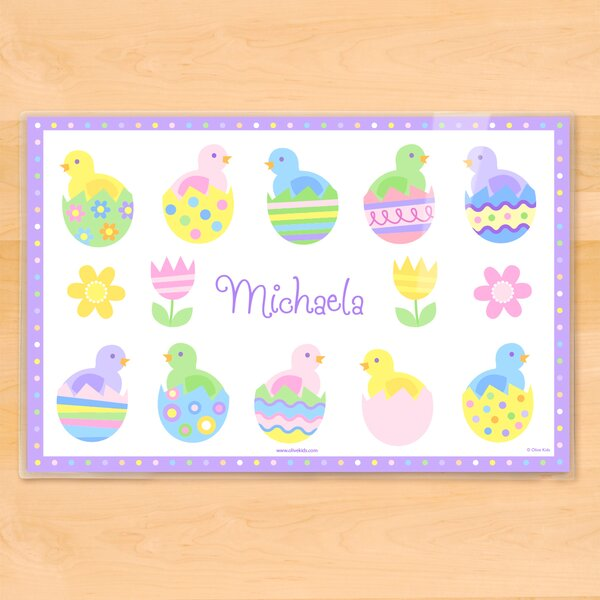 Easter Chicks Personalized Placemat by Olive Kids