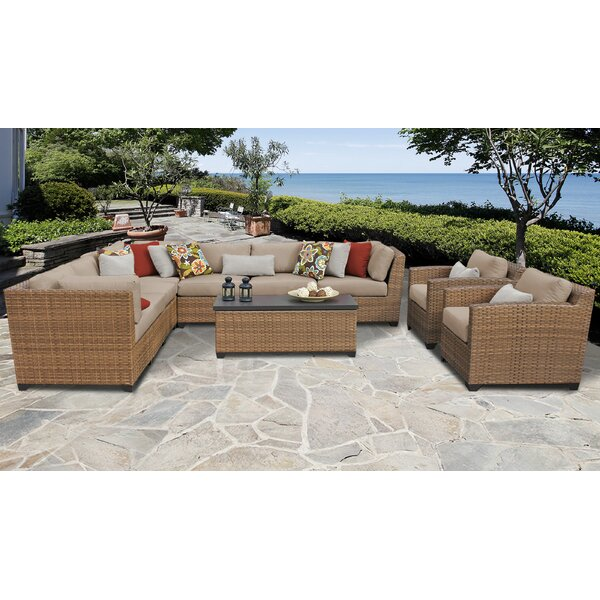 Medina 10 Piece Sectional Seating Group with Cushions by Rosecliff Heights