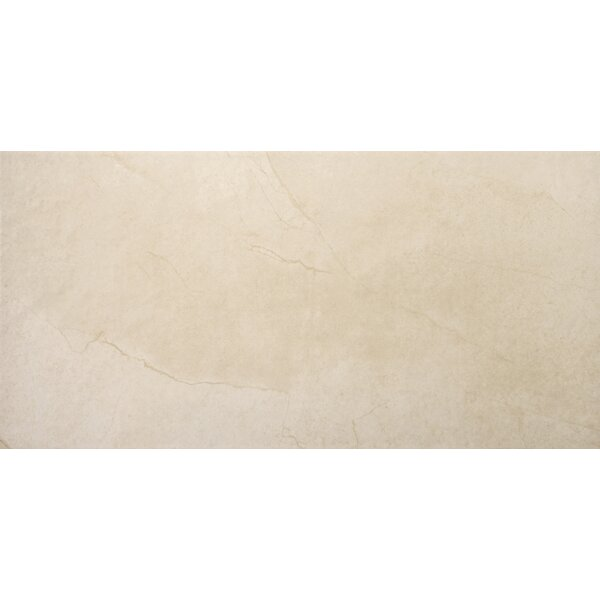 St Moritz II 12 x 24 Porcelain Field Tile in Cream by Emser Tile