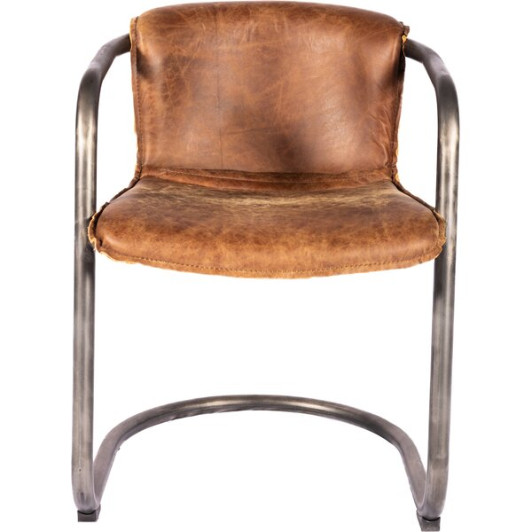 Limones Genuine Leather Upholstered Dining Chair (Set of 2) by 17 Stories