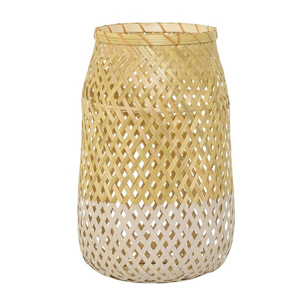 South Venice Glass/Wood Lantern by Bungalow Rose
