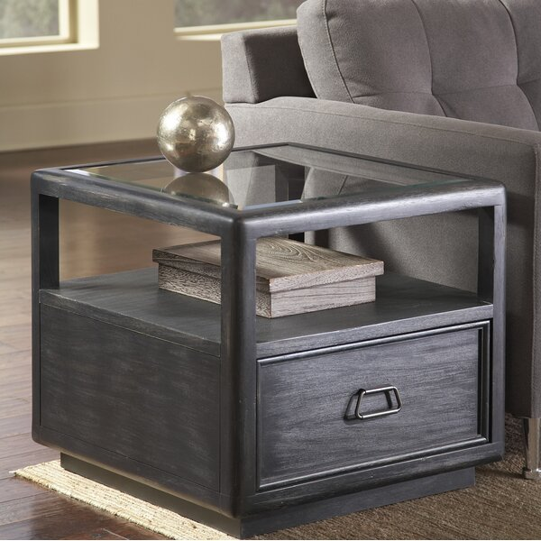 Clarisse End Table with Storage by Laurel Foundry Modern Farmhouse Laurel Foundry Modern Farmhouse