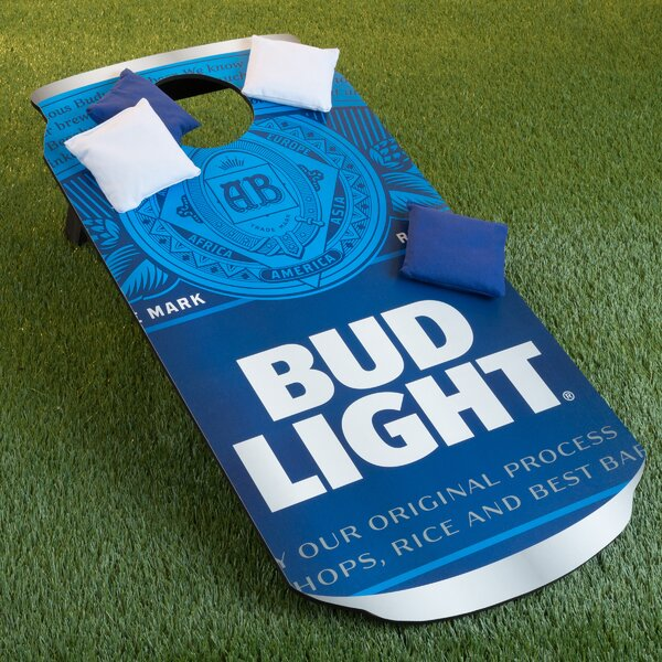 Bud Light Can 10 Piece CornHole Bean Bag Toss Game Set by Trademark Games