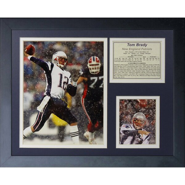 Tom Brady Snow Framed Memorabilia by Legends Never Die