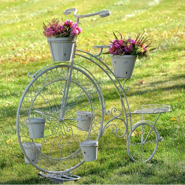 High Wheel Bicycle Planter Stand by Zaer Ltd International| @ $425.00