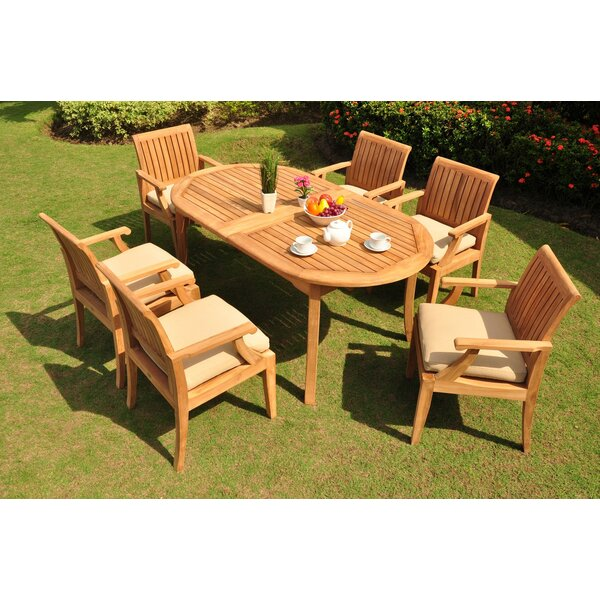 Sammy Luxurious 7 Piece Teak Dining Set by Rosecliff Heights