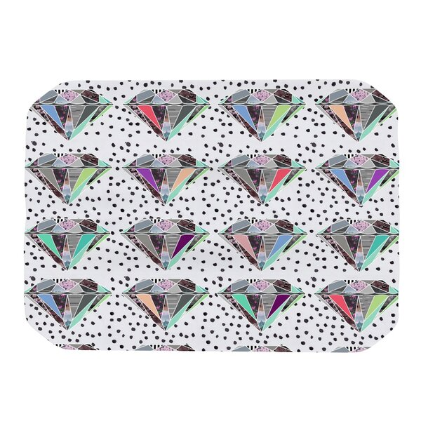 Polka Dot Diamond Placemat by KESS InHouse