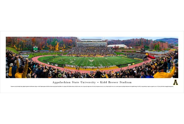 NCAA Appalachian State (50 Yd - Day) by Christopher Gjevre Photographic Print by Blakeway Worldwide Panoramas, Inc