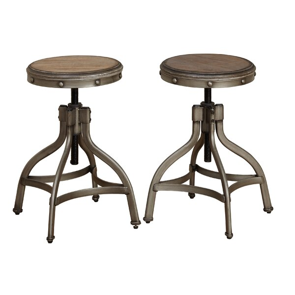 Adalgar Adjustable Height Swivel Bar Stool (Set of 2) by 17 Stories