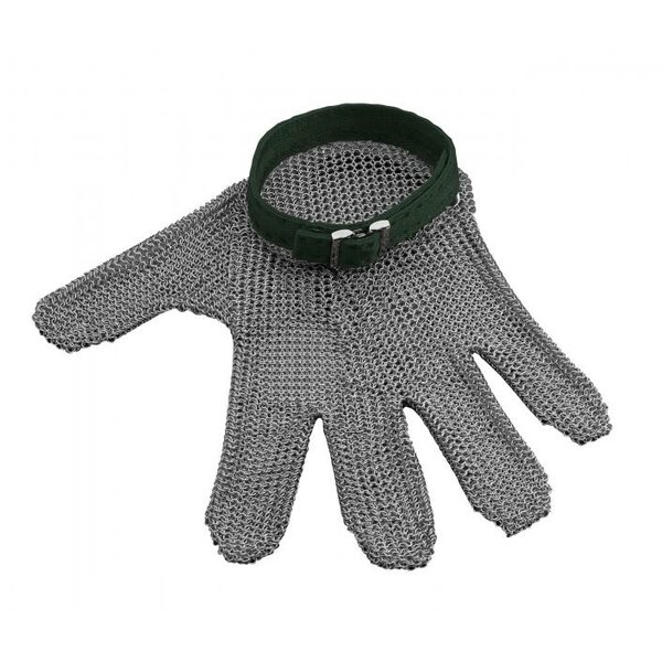 Steel mesh Oyster Glove by Carl Mertens