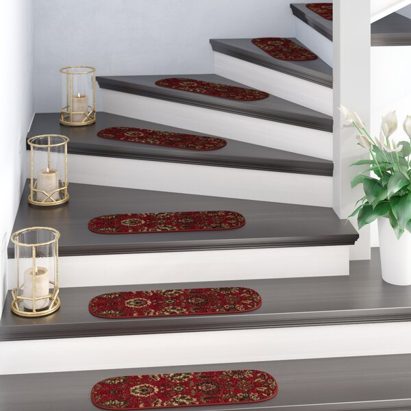 Ryan Leaf Red Stair Tread (Set of 7) by Astoria Grand