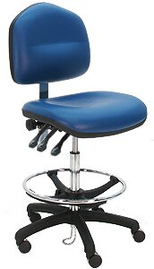 Adjustable Cleanroom Lab Drafting Chair with Cushion by Symple Stuff