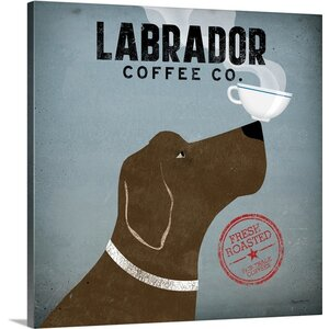 'Labrador Coffee Co' by Ryan Fowler Vintage Advertisement on Wrapped Canvas by Great Big Canvas