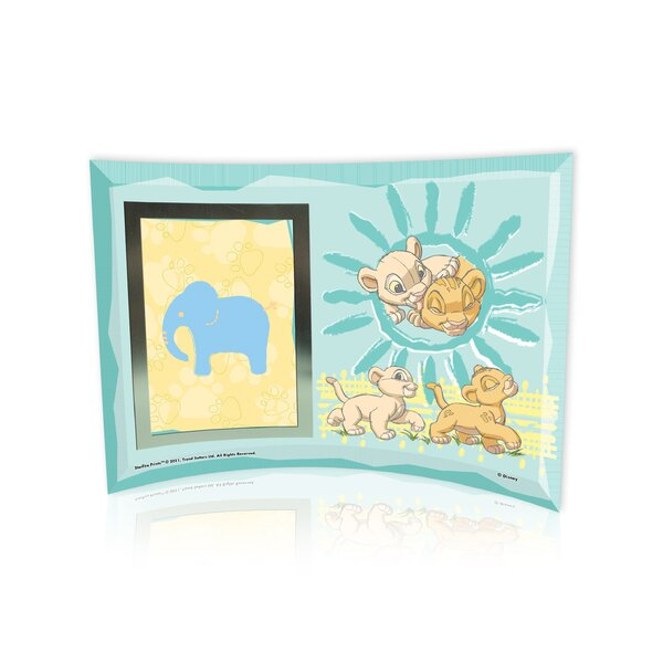 Lion King (Best Friends) Curved Glass Print with Photo Frame by Trend Setters