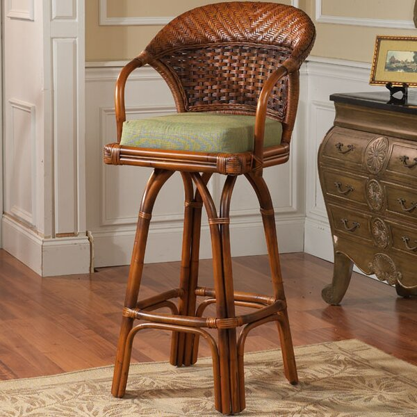 Stowell Swivel Bar Stool by Bay Isle Home
