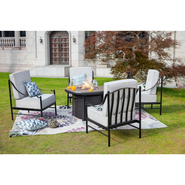 Bejou 5 Piece Multiple Chairs Seating Group with Cushions by Darby Home Co