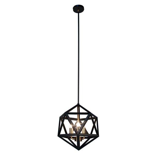 Ohalloran 3-Light Geometric Chandelier by Brayden Studio