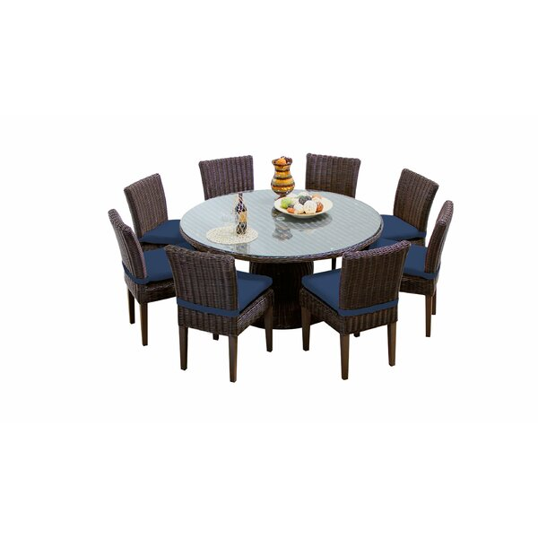 Fairfield 9 Piece Dining Set with Cushions by Sol 72 Outdoor
