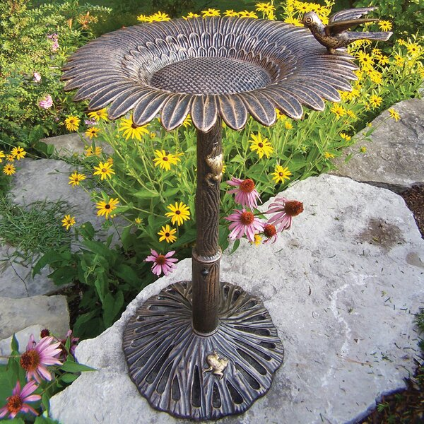 Sunflower Birdbath by Oakland Living