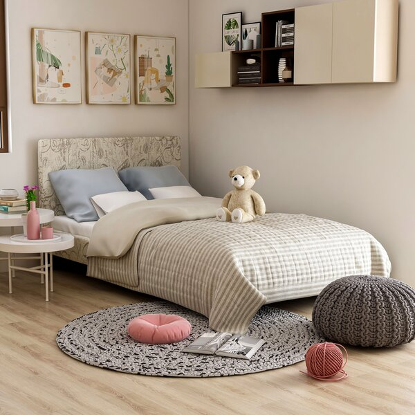Kirts Upholstered Platform Bed by Wrought Studio