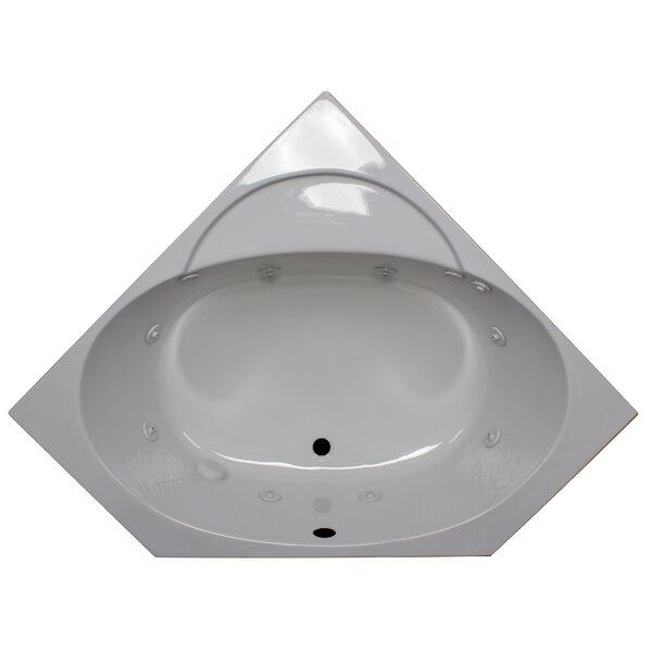 48 x 48 Corner Whirlpool Tub by American Acrylic