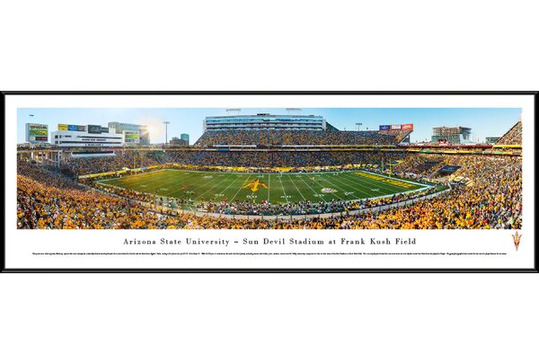 NCAA Arizona State University - 50 Yard Line by James Blakeway Framed Photographic Print by Blakeway Worldwide Panoramas, Inc