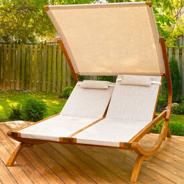 Double Reclining Lounge Chair By Leisure Season