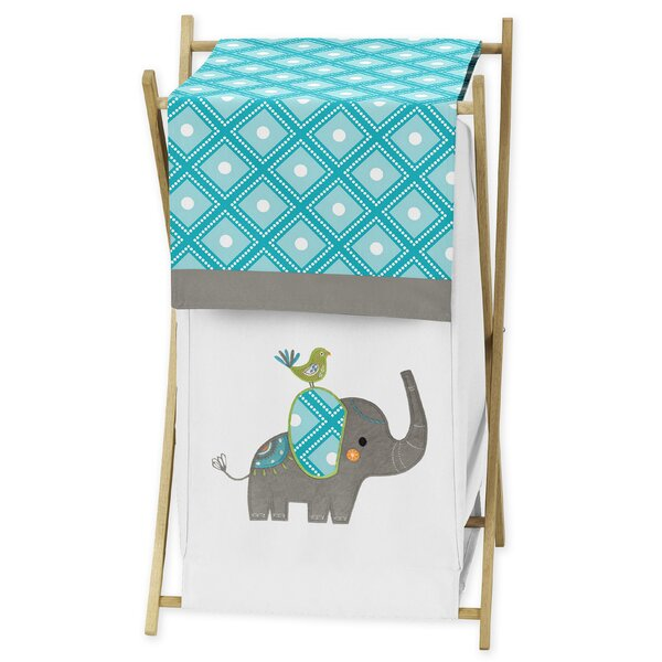 Mod Elephant Laundry Hamper by Sweet Jojo Designs