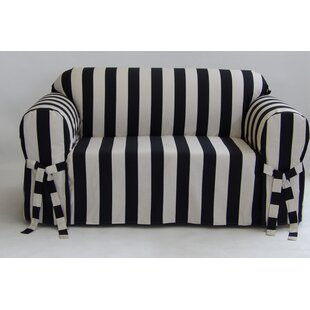 Stripe Box Cushion Slipcover