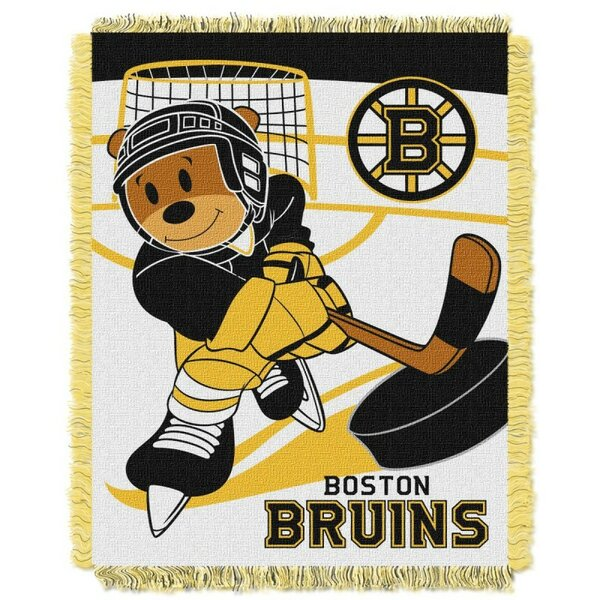 NHL Bruins Baby Polyester Fleece Throw by Northwest Co.