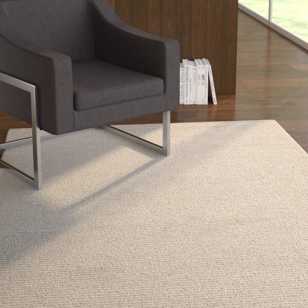Malden Hand-Woven Light Beige Rug by Latitude Run