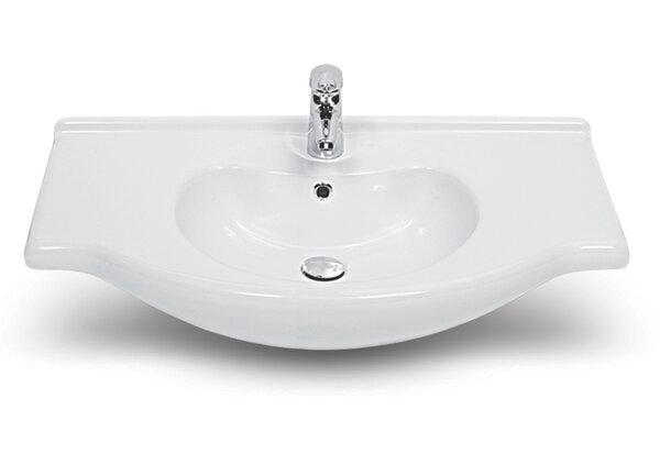 Nil Ceramic 26 Wall Mount Bathroom Sink with Overflow by CeraStyle by Nameeks