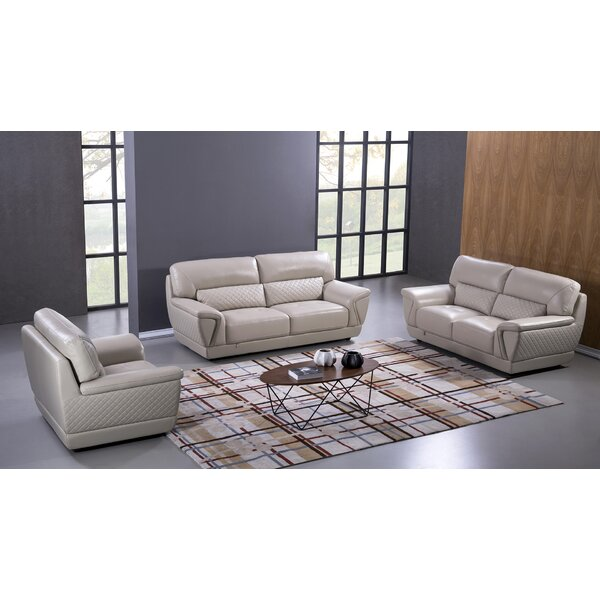 Italian Configurable 3 Piece Living Room Set by Winston Porter