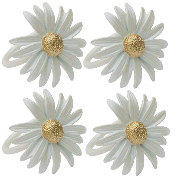 Daisy Napkin Ring (Set of 4) by Manor Luxe