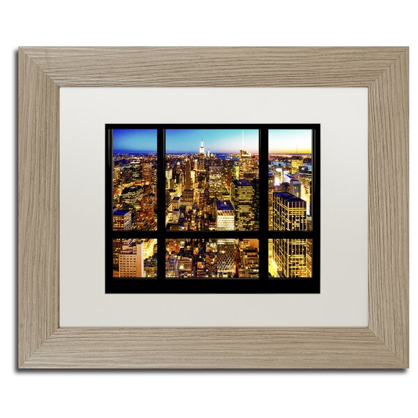 Night View of Manhattan by Philippe Hugonnard Framed Photographic Print by Trademark Fine Art