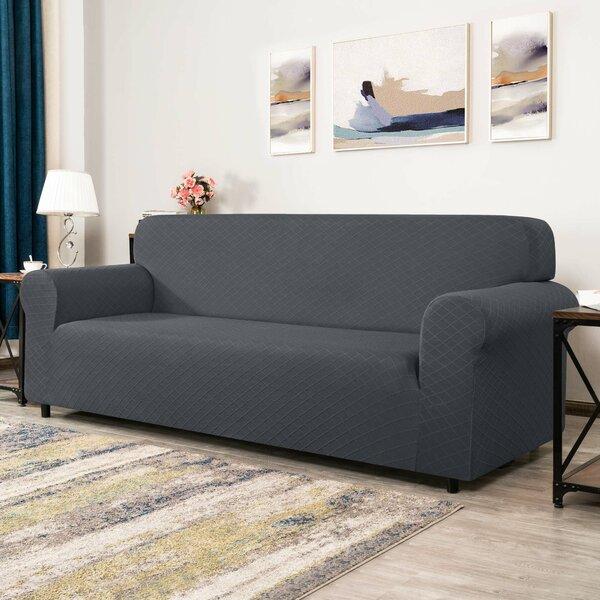 Erzuo Rhombus Box Cushion Loveseat Slipcover By Winston Porter
