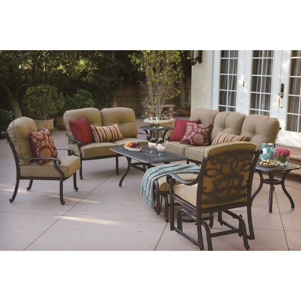 Calhoun 8 Piece Sofa Set with Cushions by Fleur De Lis Living