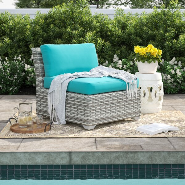 Falmouth Armless Patio Chair with Cushions (Set of 2) by Sol 72 Outdoor