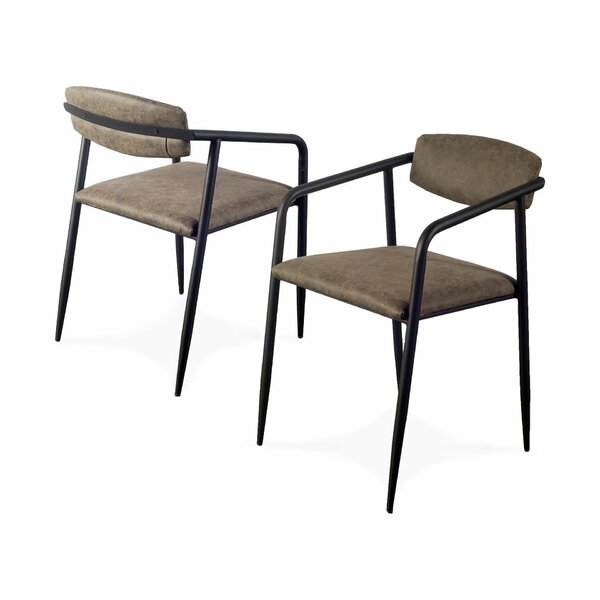 Balch Upholstered Dining Chair (Set of 2) by Foundry Select